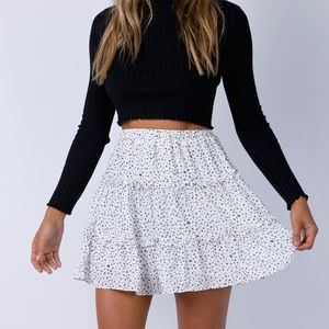 black and white summer skirt